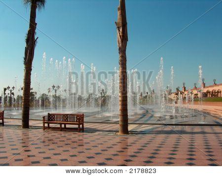 Water Fountain In Abu Dhabi