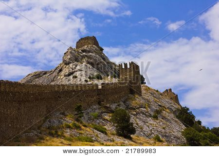 Wall Fortress In Crimea
