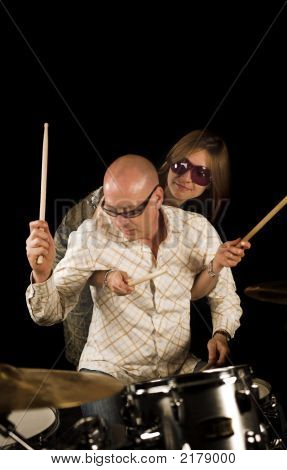 Couple And Drums