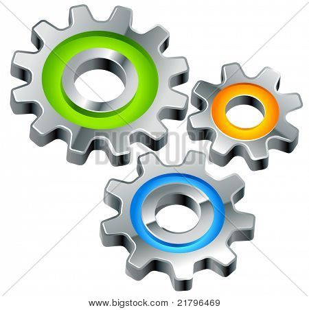 gears as settings or configuration or preferences icon