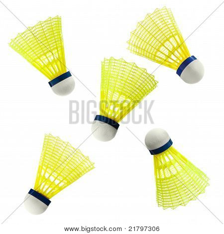 Badminton nylon Shuttlecock isolated on white