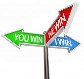 pic of win  - Three colorful arrow signs reading You Win - JPG