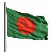 Постер, плакат: Флаг Бангладеш