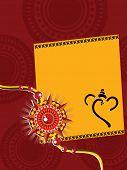 stock photo of rakshabandhan  - artistic design background with rakshabandhan greeting card - JPG