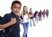picture of school child  - Young kids are ready for school - JPG