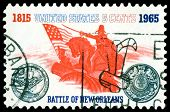 Vintage  Postage Stamp. Battle Of New Orleans.