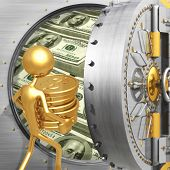 foto of bank vault  - A Concept And Presentation Figure in 3D - JPG