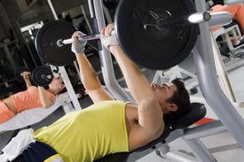 image of lifting weight  - health club - JPG
