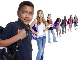 foto of school child  - Young kids are ready for school - JPG