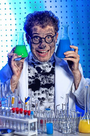 pic of mad scientist  - Medical theme - JPG