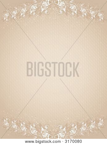 Beige Antique Background, Vector Illustration