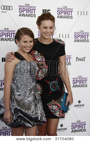 SANTA MONICA, CA - FEB 25: Sammy Boyarsky; Brie Larsen at the 2012 Film Independent Spirit Awards on February 25, 2012 in Santa Monica, California