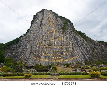 Buddha Image On The Mountain