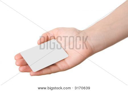 Hand Holdind A Business Card