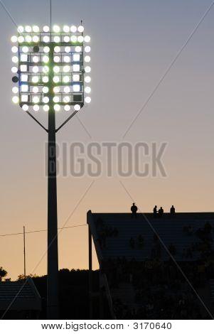 Sunset In A Soccer Stadium