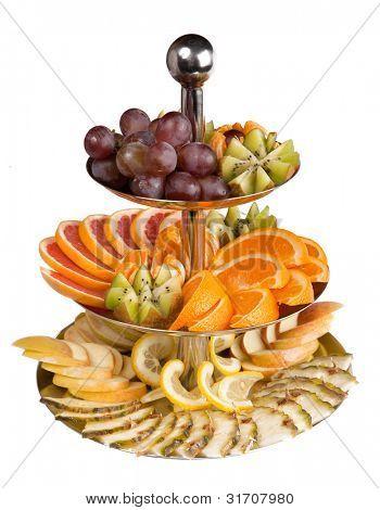 grapes, kiwi, orange, grapefruit, apple, pineapple