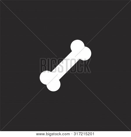 poster of Dog Food Icon. Dog Food Icon Vector Flat Illustration For Graphic And Web Design Isolated On Black B