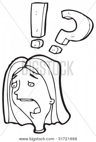 surprised woman cartoon