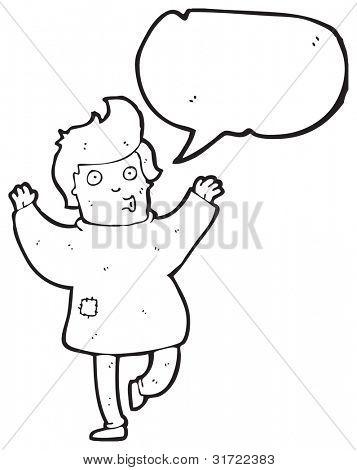 Cartoon tanzenden Mann in Lumpen