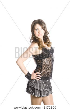 Young Woman With Her Hands Onhips