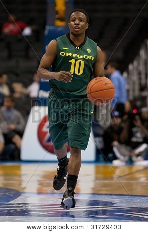 LOS ANGELES - MARCH 10: Oregon Ducks G Johnathan Loyd #10 in action during the NCAA Pac-10 Tournament basketball game on March 10 2011 at Staples Center.