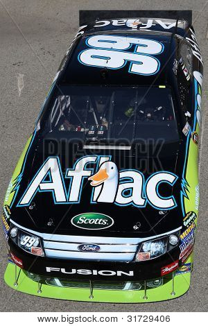 FONTANA, CA. - OCT 9: Sprint Cup Series driver Carl Edwards in the Aflac #99 car during the Pepsi Max 400 practice on Oct 9 2010 at the Auto Club Speedway.