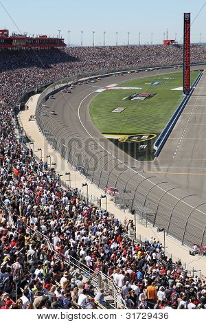 FONTANA, CA. - OCT 10: The Auto Club Speedway hosts the running of the Pepsi Max 400 on Oct 10 2010 at the Auto Club Speedway in Fontana, Ca.