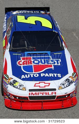 FONTANA, CA. - OCT 9: Sprint Cup Series driver Mark Martin in the Car Quest Auto Parts #5 car during the Pepsi Max 400 practice on Oct 9 2010 at the Auto Club Speedway.