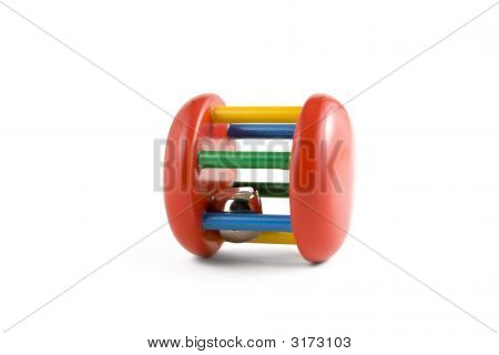 Colorful Baby Toy Isolated On White Background