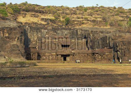 Ancient Hindu Temple At Ellora