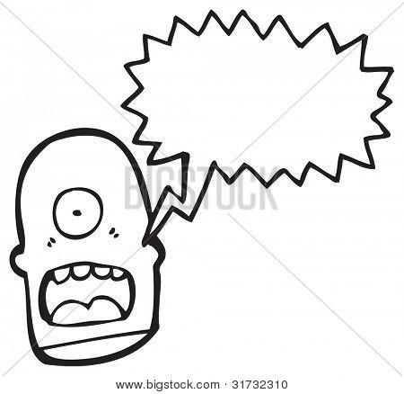 monstro de Ciclope gritos dos desenhos animados