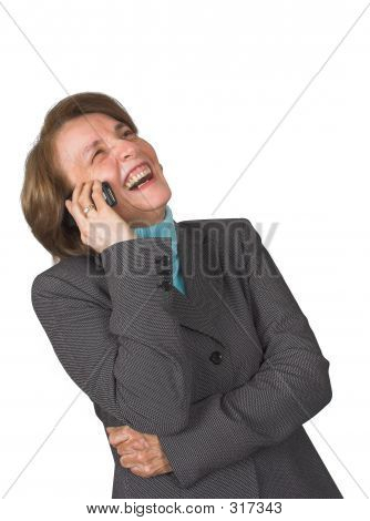 Business Woman Laughing On Her Cellphone