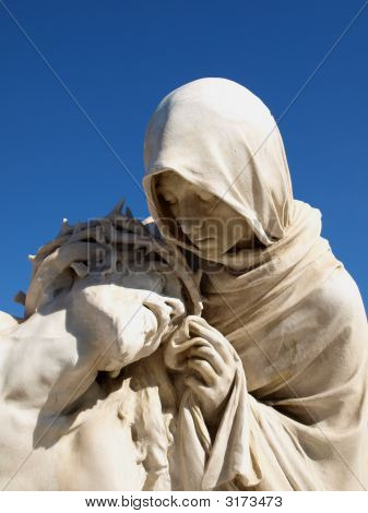 Statues Of Holy Mother And Christ