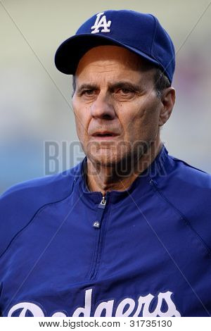 LOS ANGELES - SEP 17: Dodgers manager Joe Torre before the MLB Rockies vs. Dodgers game on Sep 17 2010 at Dodgers Stadium in Los Angeles.