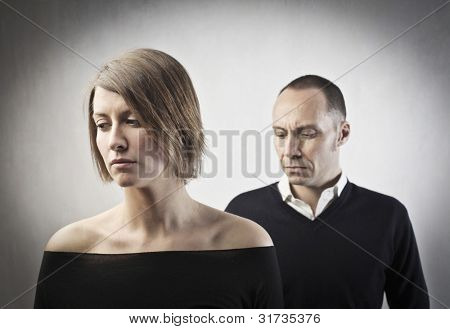 Sad couple