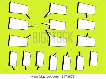 3D Speech Bubbles L