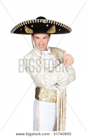 Man dressed in matador outfit