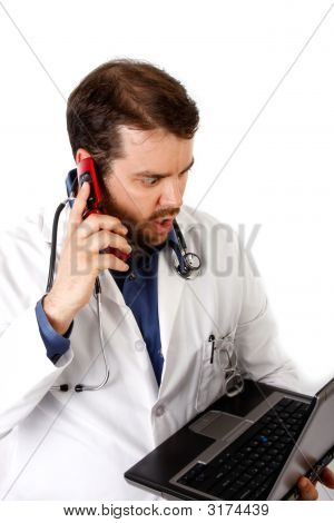 Surprised Doctor On The Phone