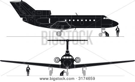 Vector High-Detailed Jet Silhouettes