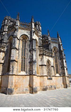Batalha Cathedral world heritage near Leiria, Portugal