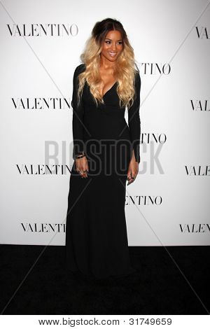 LOS ANGELES - MAR 27:  Ciara arrives at the Valentino Beverly Hills Opening at the Valentino Store on March 27, 2012 in Beverly Hills, CA