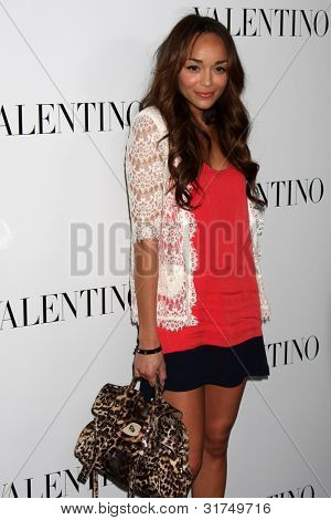 LOS ANGELES - MAR 27:  Ashley Madekwe arrives at the Valentino Beverly Hills Opening at the Valentino Store on March 27, 2012 in Beverly Hills, CA