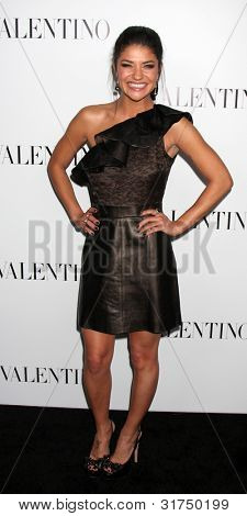 LOS ANGELES - MAR 27:  Jessica Szohr arrives at the Valentino Beverly Hills Opening at the Valentino Store on March 27, 2012 in Beverly Hills, CA