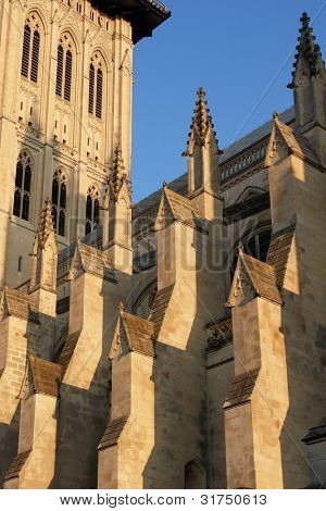 Architectural detail of National Cathedral in Washington DC