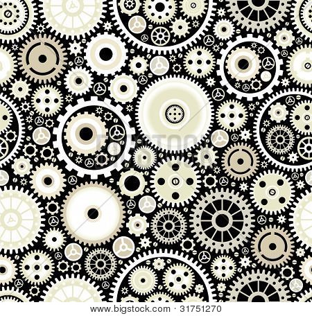 seamless background consisting of bright gears and arrows.the concept of motion