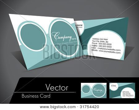 Professional business card set, template or visiting card set. Artistic, colorful abstract corporate look in dark and bright colors, EPS 10 Vector illustration.