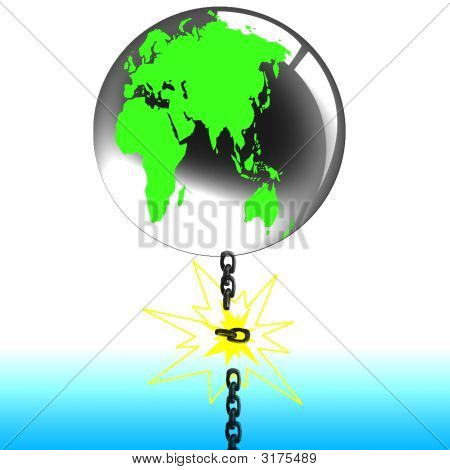 Globe And Chain