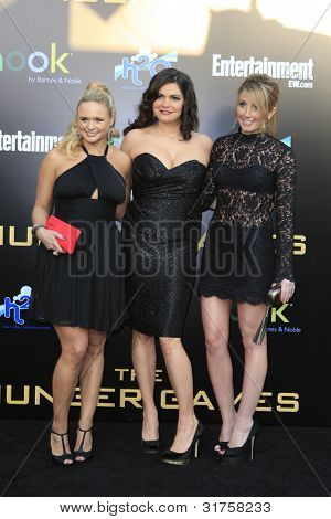 LOS ANGELES, CA - MAR 12: Miranda Lambert, Ashley Monroe, Angaleena Presley at the premiere of Lionsgate's 'The Hunger Games' at Nokia Theater L.A. Live on March 12, 2012 in Los Angeles, California