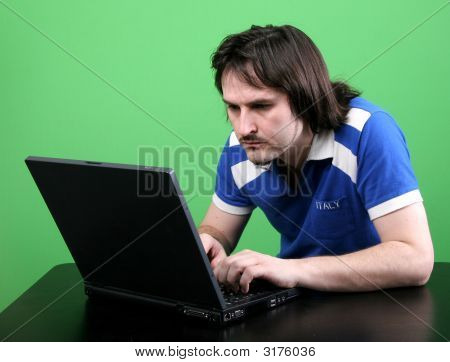 Man Work With Laptop