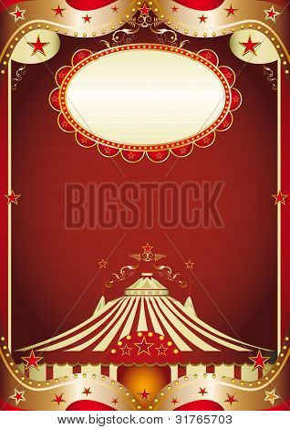circus baroque. A baroque circus background with a big top.